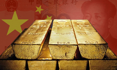 China gold in the Shanghai Gold Exchange