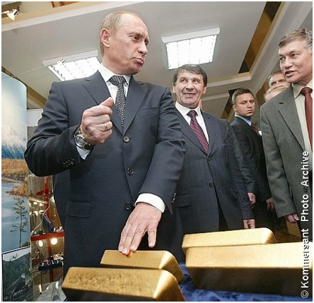 goldcore bloomberg chart2 28 04 14 - Russia Gold Buying Is Back – Buys One Million Ounces In January